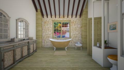 luxury renovation - Rustic - Bathroom - by donella