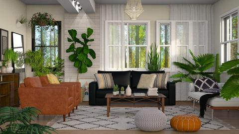 Jungle in the Living - Living room - by DeborahArmelin