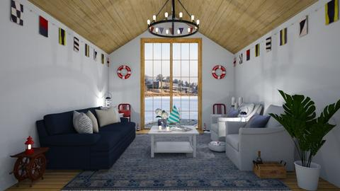 Boathouse nautical - Living room - by martinabb