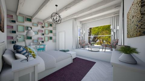 Slender Blanco Colorido - Feminine - Bedroom - by luciajaimedc