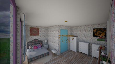 Wild Flower Bedroom - Bedroom - by Brooklyn_Baddie
