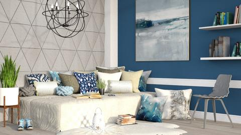 Triangle Accent - Living room - by millerfam