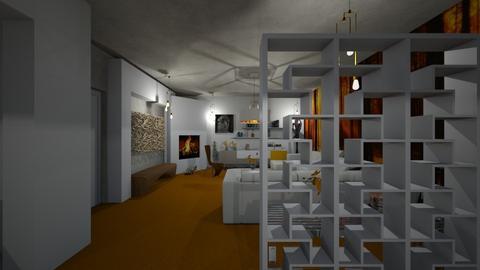 Orange Carpet - Living room - by LuzMa HL