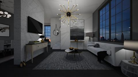 Black and White   - Modern - Living room - by tolo13lolo