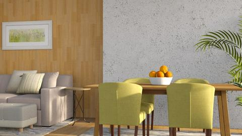 Apple Green and Oranges - Minimal - Dining room - by millerfam