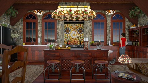 Design 314 Tiffany Kitchen at Sunset - by Daisy320