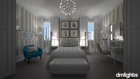 Suave Azul - Bedroom - by DMLights-user-983971