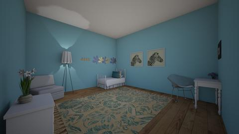 Sky Blue Bedroom - Kids room - by ellarowe224