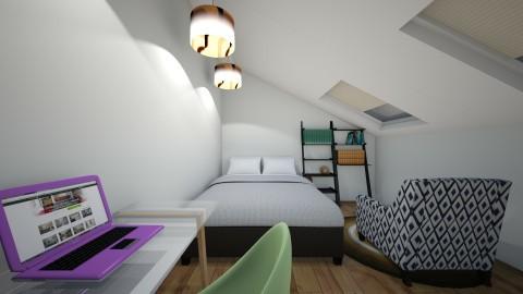 Slant ceiling bedroom - Bedroom - by Molly_girl