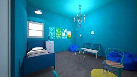 Blue Bedroom - Bedroom - by Sageybear12