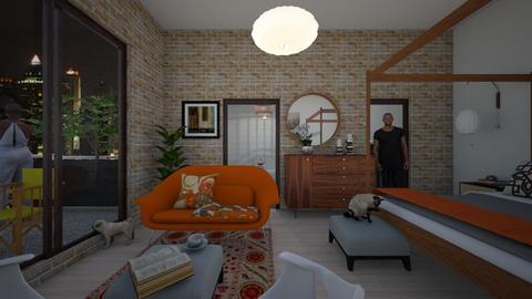 Retro - Vintage - Bedroom - by PomBom