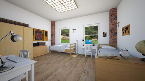 Catholic Seminary Dorm Room - by SammyJPili