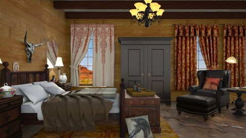 American West - Rustic - Bedroom - by DeborahArmelin