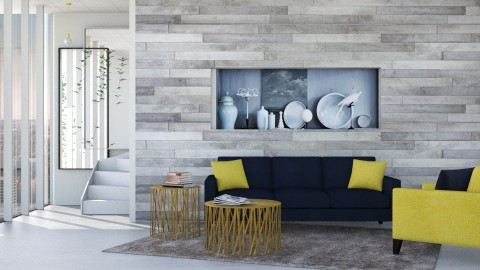 M_Betonage gray - Minimal - Living room - by milyca8