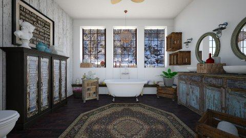 Rustic Winter - Bathroom - by sissybee