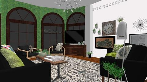 Urban Jungle Living Room - Modern - Living room - by WeirdBritJournalist