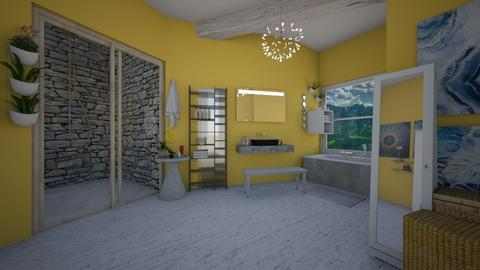 Sunflower Bathroom - Bathroom - by Natalie222