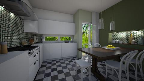 Checkered tiles - Kitchen - by deleted_1536341644_Amar45