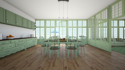 Beach House  - Vintage - Kitchen - by creato