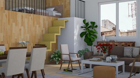 Mezzanine Apartment - Modern - Living room - by millerfam
