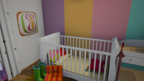 HIPPIE Baby Room - Retro - Kids room - by ElsaofDesign