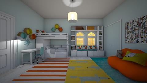 blue and orange - Classic - Bedroom - by kla