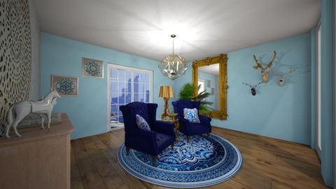 blue living room - Living room - by JessK