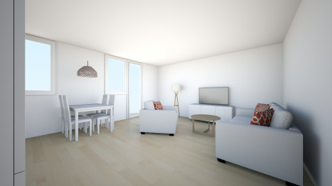 juustyna bez cegly - Minimal - Living room - by juustyna
