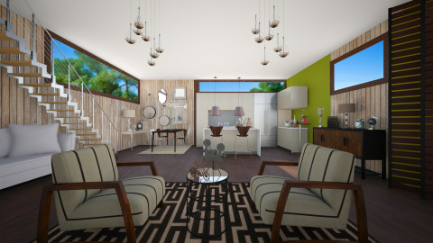 The 70s - Retro - Living room - by Laurika