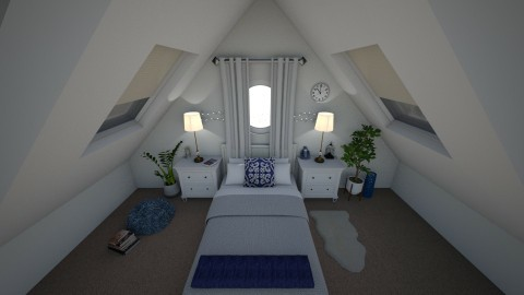 Attic bedroom - Bedroom - by doctorsamiakhan