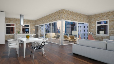 loft  - Living room - by amandine evieux