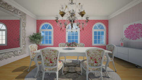 pink and white - Modern - Dining room - by Karine Hakobayan