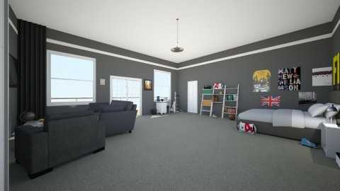 Hayes USA - Bedroom - by MaisieTang