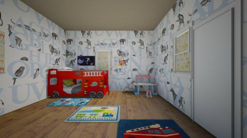 Little Firefighter - Kids room - by Shynyia Lemon