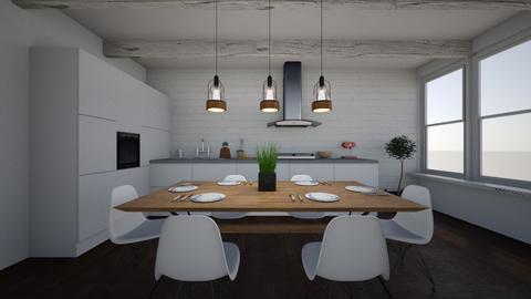 scandinavian kitchen - by dizzymango