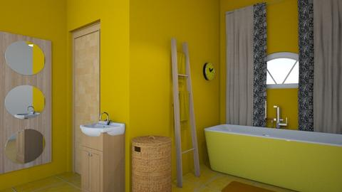 Yellow bathroom - Bathroom - by Perpetto
