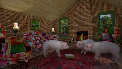 3 Little Pigs Brick House - by Valentinapenta