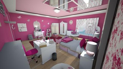 Pink Room - Bedroom - by KrisTina94