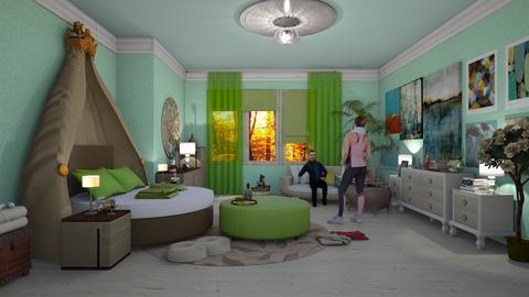 bohemian bed - by nat mi