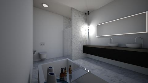 very marble and modern - Modern - Bathroom - by jade1111