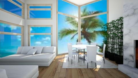 Beach house - Minimal - by Lillian Rosaler