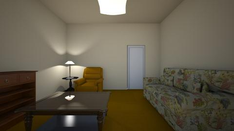 Student Apartment - Living room - by WestVirginiaRebel