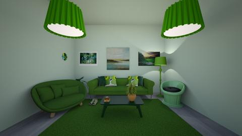 Greenish - Glamour - Living room - by SpicyMcPie