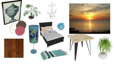 beach bedroom moodboard - by The vamps lover