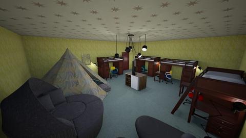 Country Bunk Room - Rustic - Bedroom - by KajsaRain