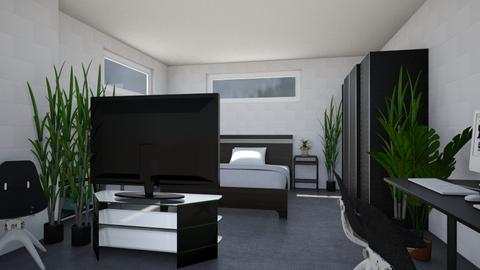 Bed and Hangout Room - Minimal - Bedroom - by millerfam