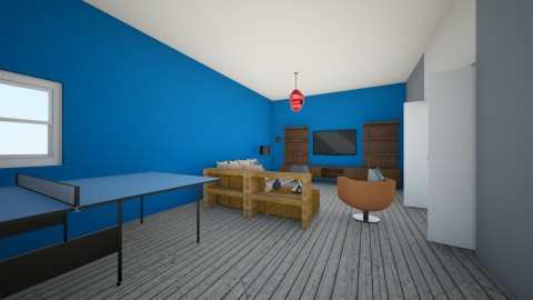 modern house floor 1 - Living room - by ian Beck