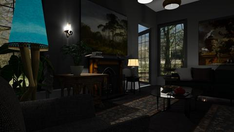 House_with_Large_Garden - Living room - by ZuzanaDesign