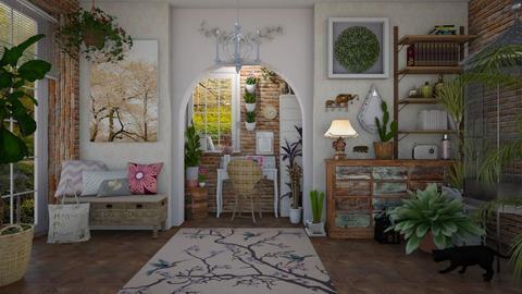 Boho Office 2 - Office - by Nicky West