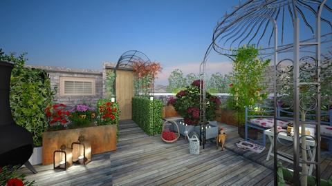 roof garden - Feminine - Garden - by donella
